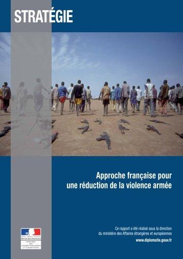approche française pour une réduction de la violence armée