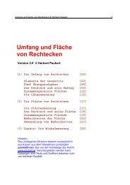 Umfang und Fläche von Rechtecken - von Herbert Paukert