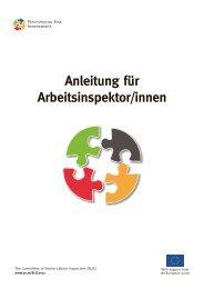 SLIC 2012, Anleitung für Arbeitsinspektor/innen ... - Arbeitsinspektion