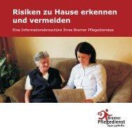 Risiken zu Hause erkennen und vermeiden - Bremer Pflegedienst