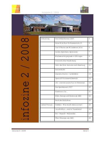 Infozine 2/2008 - Albert Einstein Gymnasium