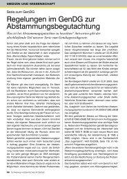 Regelungen im GenDG zur Abstammungsbegutachtung - Schleswig ...