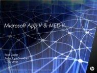 Microsoft App-V & MED-V - HP