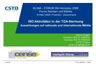 ISO Aktivitäten in der TGA-Normung - Fachverband Gebäude-Klima ...