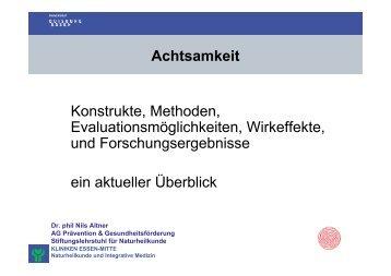 Creswell, JD; Way, BM et al.: (2007) - Achtsam Leben Start