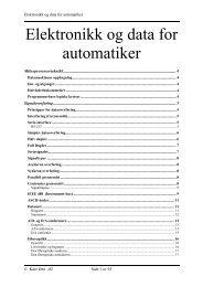 Elektronikk og data for automatiker - Home