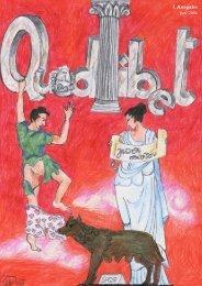 . Ausgabe - Quodlibet • Die Zeitschrift