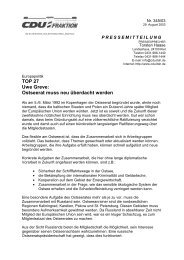 Ostseerat muss neu überdacht werden - Informationsangebot ...