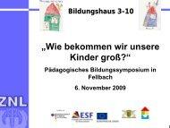 Das Bildungshaus Balingen-Engstlatt - Lerntherapie