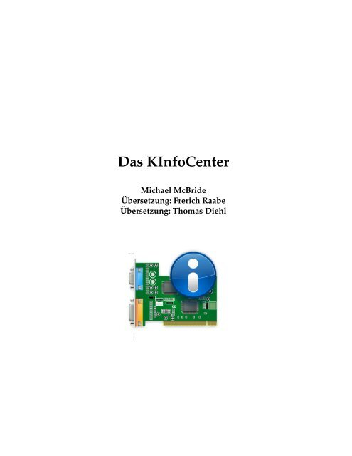 Das KInfoCenter - KDE Documentation