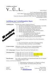 Ausschreibung Ausbildung VÜL März 2013 - BSSB