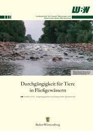 Durchgängigkeit für Tiere in Fließgewässern - Edocs
