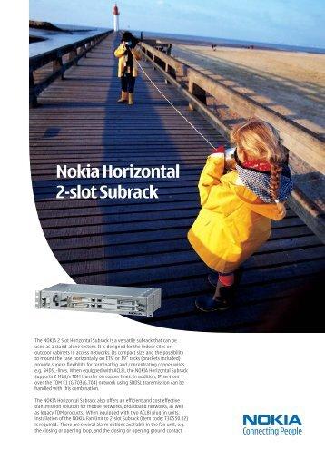 Nokia Horizontal 2-slot Subrack - 3M Services GmbH