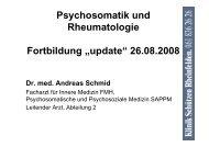 Referatsunterlagen Dr. med. Andreas Schmid