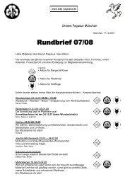 Rundbrief 07/08 - BdP Stamm Pegasus