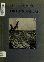 Die Radierungen des Hercules Seghers; ein physiognomischer ...