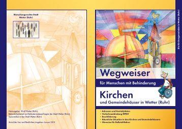 Broschüre Wegweiser Kirchen - Stadt Wetter