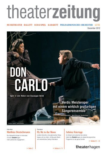 Theaterzeitung Dezember 2012 - Theater Hagen