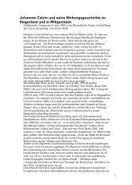 Johannes Calvin und seine Wirkungsgeschichte ... - reformiert-info.de