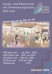 Jahrbuch 2004 (5MB / PDF) - Geschwister-Scholl-Schule Bad Laer