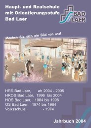 Jahrbuch 2004 (5MB / PDF) - Geschwister-Scholl-Schule Bad Laer