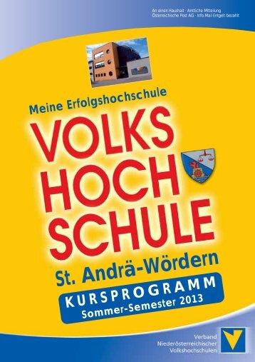 Volkshochschule / Programm Sommer 2013 - Marktgemeinde St ...