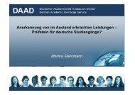 Marina Steinmann Anerkennung von im Ausland ... - eu-DAAD