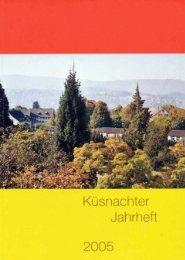 Jahrheft 2005 - Verein für Ortsgeschichte Küsnacht