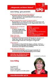 Kandidateneinleger Liane Fülling - SPD-Ortsverein Versmold
