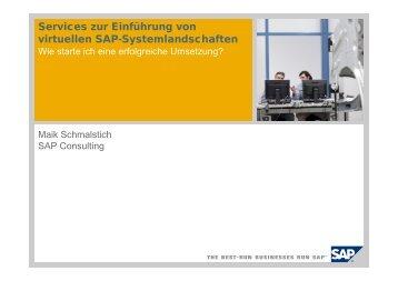 Services zur Einführung von virtuellen SAP ... - Fujitsu