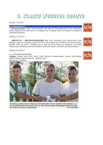 saison 2011/12_2. Klasse Wechsel [5 MB] - SC HOWODO