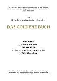 Ludwig Maria de Grignion - Das Goldene Buch - Gott ist die Liebe