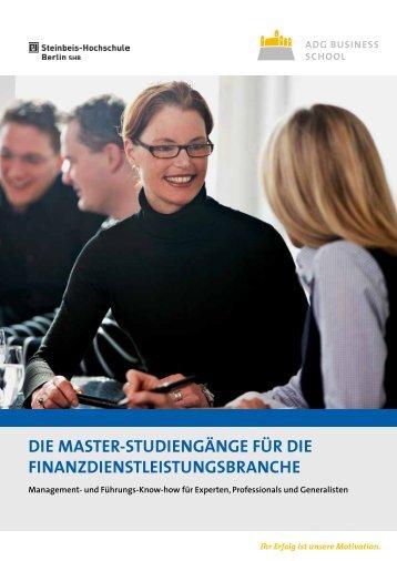 Master-Studiengänge (Finanzbranche) - Master-Vergleich