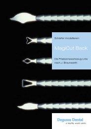 Modellierinstrumente MagiCut Back Broschüre - DeguDent GmbH