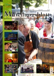 40. Jahrgang Auflage 7.000 30. Juli 2011 Nr. 07 - Markt Regenstauf