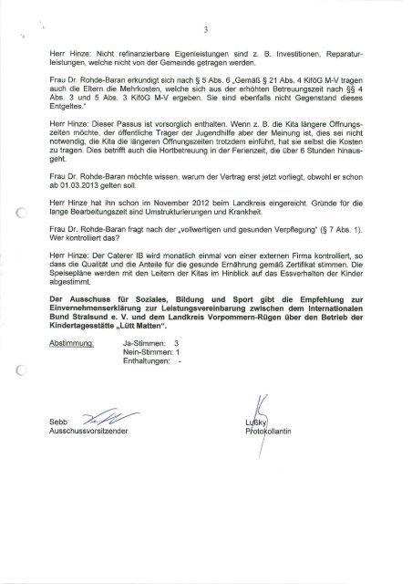 Protokoll - Gemeinde Binz