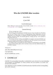 Wie die GNOME ¨alter werden
