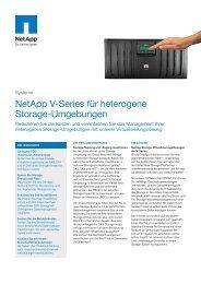 NetApp V-Series für heterogene Storage-Umgebungen - Backup.ch