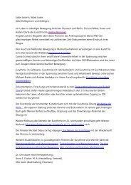 Liebe Leserin, lieber Leser, liebe Kolleginnen und ... - Goetheanum