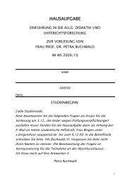 HAUSAUFGABE - Petra-buchwald.de