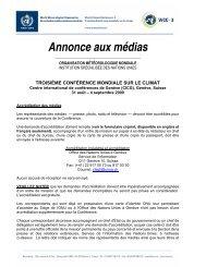 Annonce aux médias - WMO