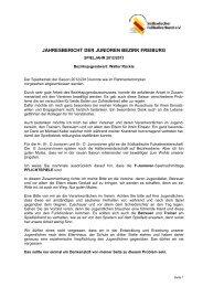 JAHRESBERICHT DER JUNIOREN BEZIRK FREIBURG