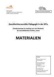 Materialien Geschlechtersensible Pädagogik in der Kita