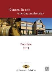 Winzerkeller Auggener Schäf eG - Badisches Weinhaus Bödecker