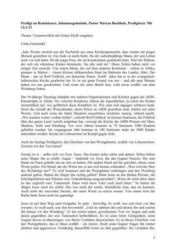 Reminiszere(P. Buchholz) - Evangelisch-lutherische Kirche in ...