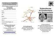 Gottesdienste im Krankenhaus und Seniorenheim - Katholisches ...