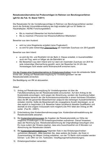 BK Reisekosten sj-Stand-Febr.12 - Fakultät VI Planen Bauen ...