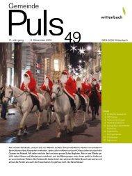 71. Jahrgang 6. Dezember 2012 49 GZA 9300 Wittenbach Inhalt