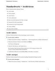 Standardwerte > Archivieren - Software AG Documentation Web site