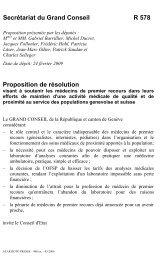 R 578 - visant a soutenir les medecins de premier ... - Etat de Genève